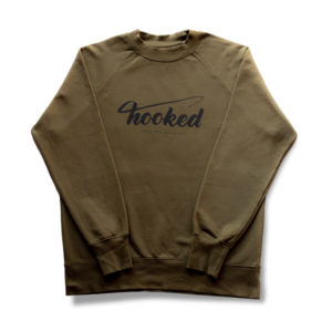 HOOKED - BASIC SWEATER khaki and black loose fit