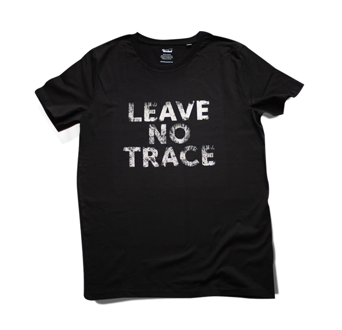 HOOKED - T-SHIRT leave no trace black and white
